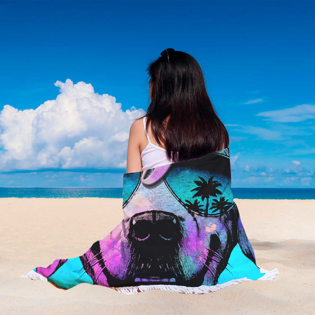 Good Vibes Round Beach Blanket