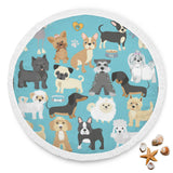 Fun Loving Small Dog Beach Blanket