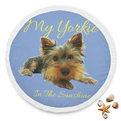 My Yorkie - Round Beach Blanket