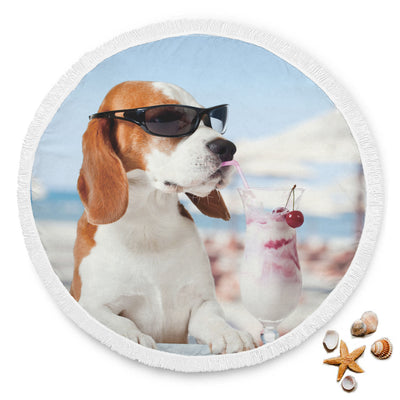Beagle At The Beach Blanket