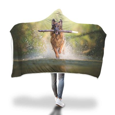 Awesome Stick Dog Hooded Blanket