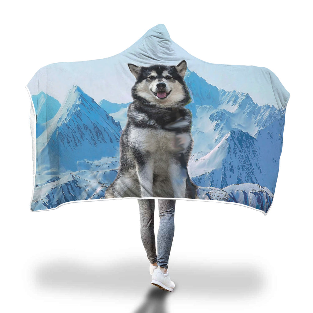 Husky Mountain Hooded Blanket