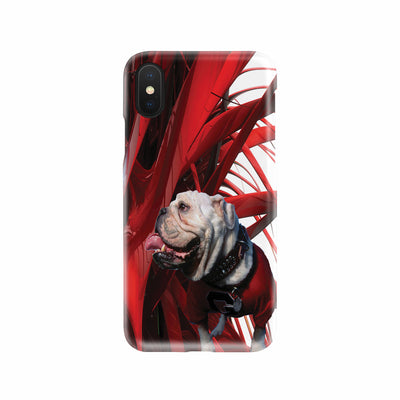 Bulldog and Red Deluxe Phone Case
