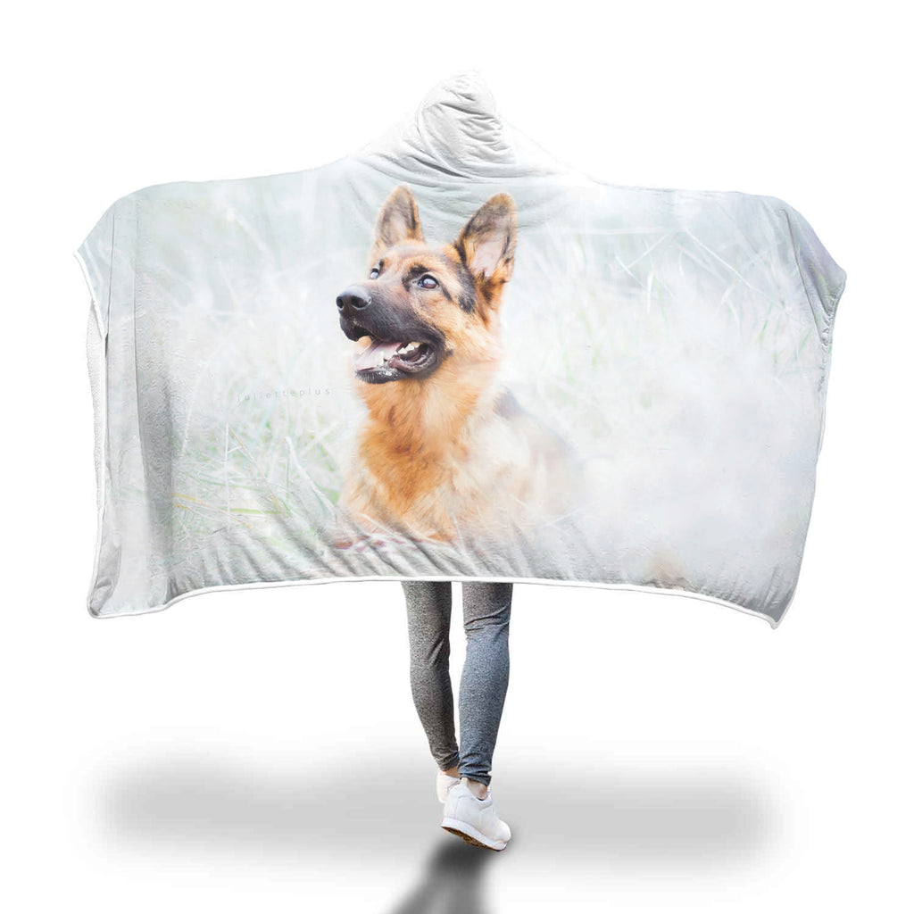 Deluxe German Shepherd Hooded Blanket