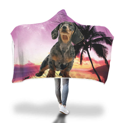 Dachshund Custom Hooded Blanket