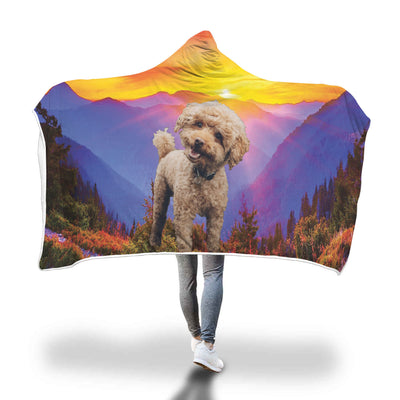 Sunshine Poodle Hooded Blanket