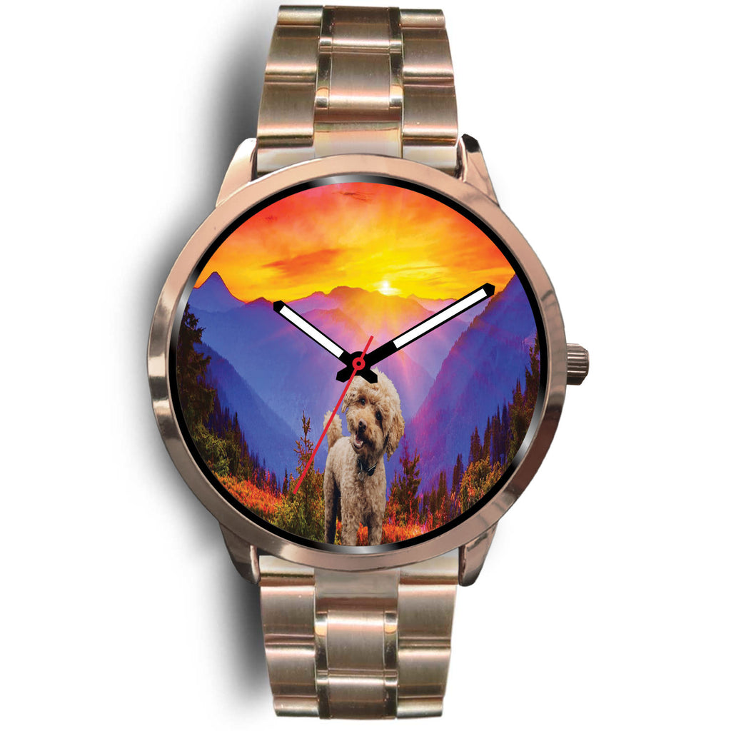 Poodle Custom Sunset Rose Gold Watch