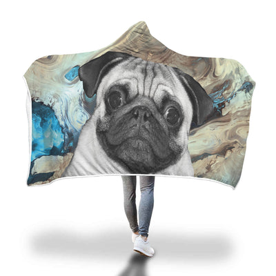 Pug Lovers Hooded Blanket