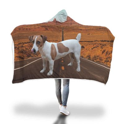 Custom Jack Russell Hooded Blanket