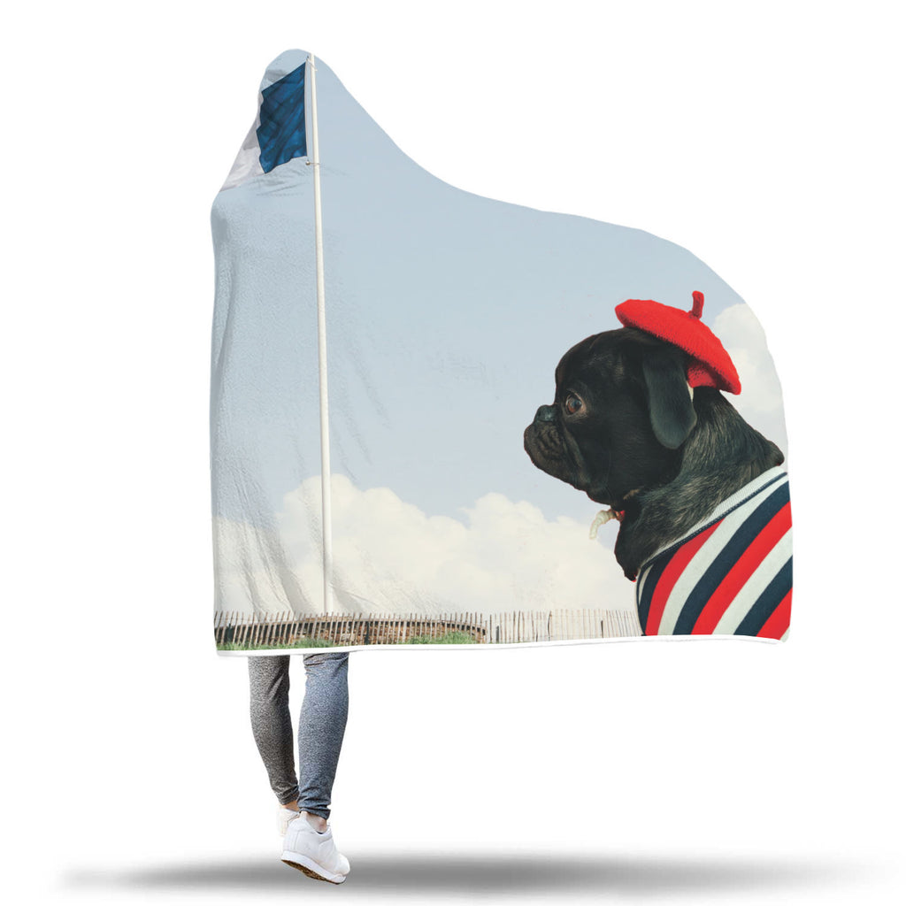 Vive la France Hooded Blanket