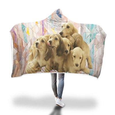 Puppy Family Hooded Blanket