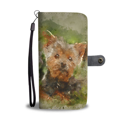 Fancy Yorkie Phone Wallet