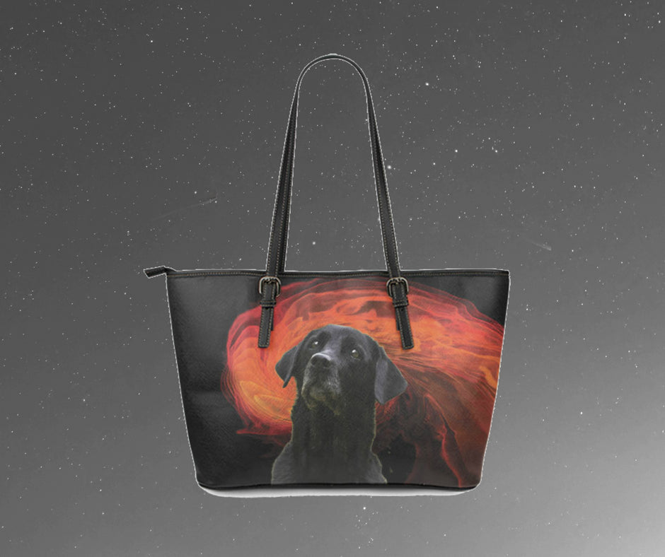 Labrador Red Burst Leather Tote