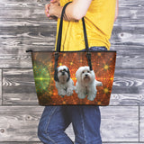 Star Boutique Dog Leather Tote