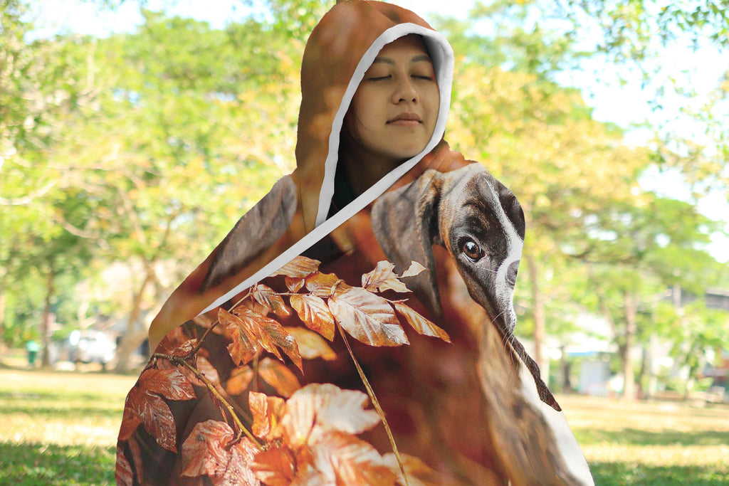 Boxer Lovers Hooded Blanket