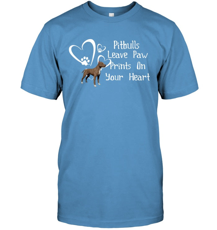 Apparel - Pitbulls Leave Paw Prints On Your Heart