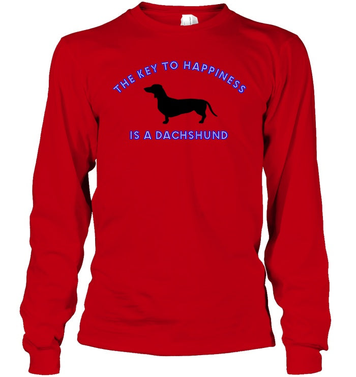Apparel - The Key To Happiness, Is A Dachshund