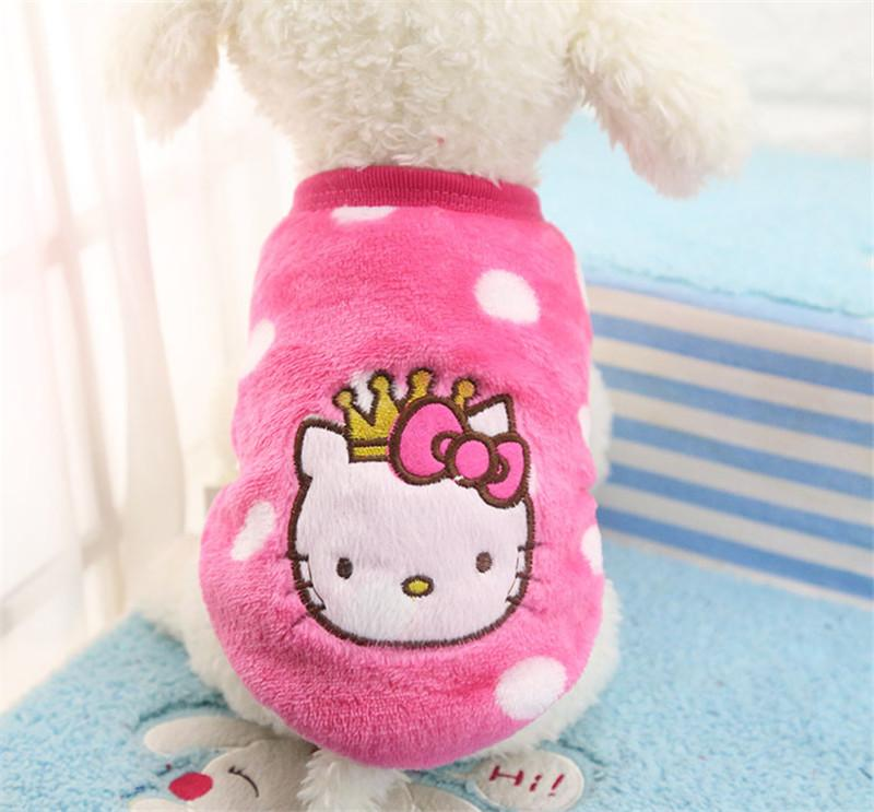 Doggy Clothes - Small Dog Cartoon Vest Sweater