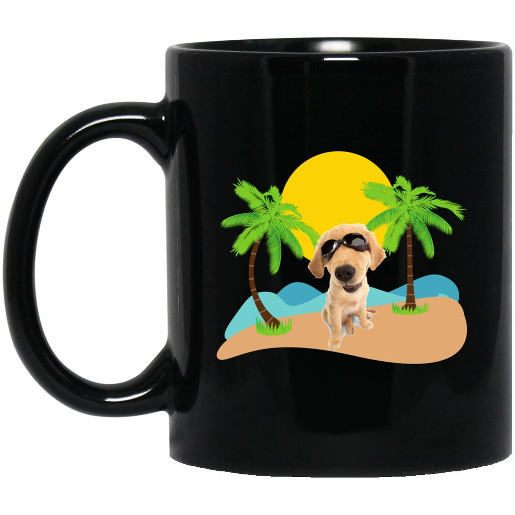 Drinkware - A Dog At The Beach - Bold In Black