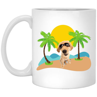 Drinkware - A Dog At The Beach - Classic White