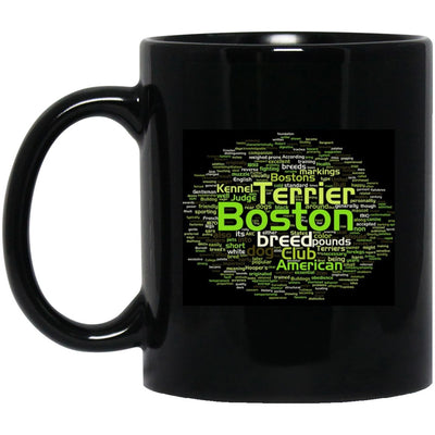 Drinkware - Boston Terrier Designer Black Ceramic Mug