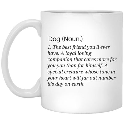 Drinkware - Dog (Noun.) Classic White Ceramic Mug