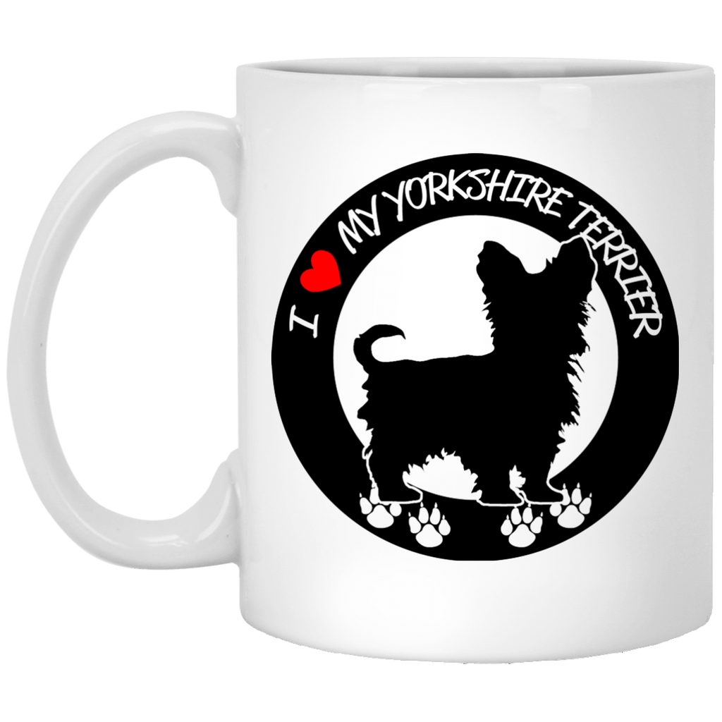 Drinkware - I ❤️   My Yorkshire Terrier - Custom Design Ceramic Mug