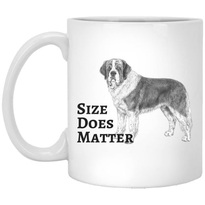 Drinkware - Size Does Matter - St. Bernard Design Ceramic White Mug