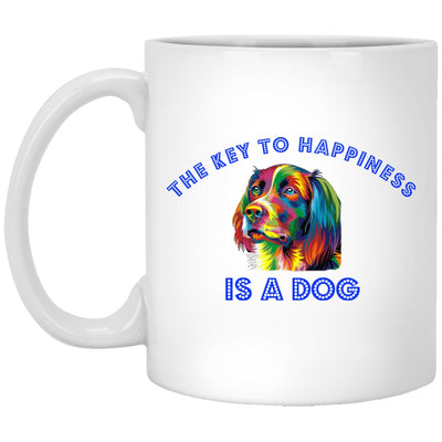 Drinkware - The Key To Happiness-White Ceramic Mug
