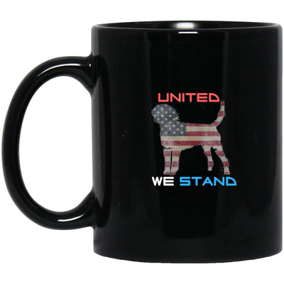 Drinkware - United We Stand - Designer Black Ceramic Mug