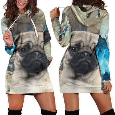 Pug Lovers Hoodie Dress