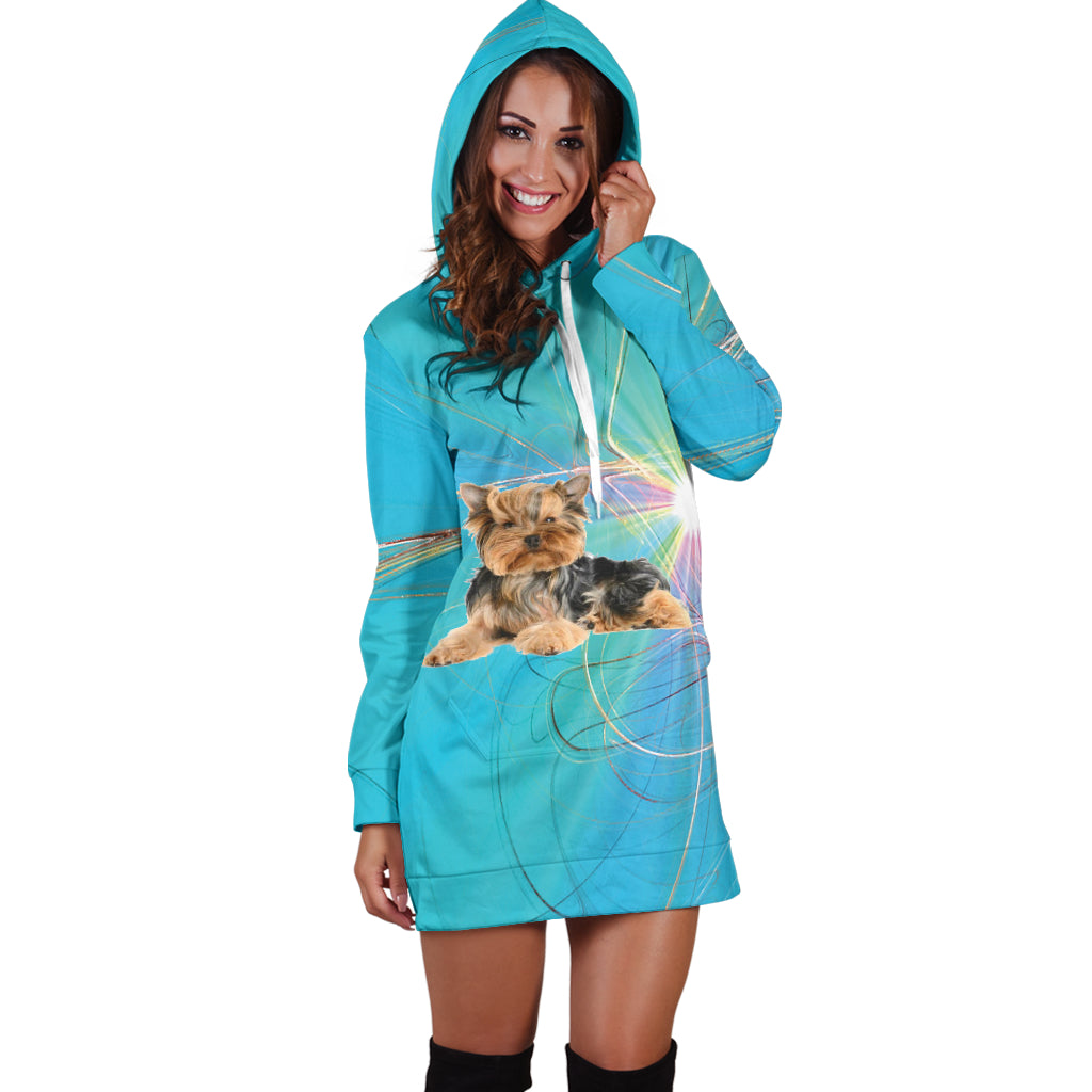 Yorkie Custom Hoodie Dress