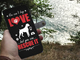 Wallet Case - Love And Rescue Dog Phone Case