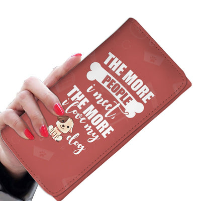 Womens Wallet - The More I Love Dogs Ladies Clutch