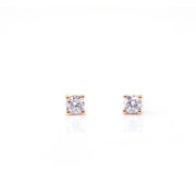 Four-Prong Solitaire Diamond Earrings