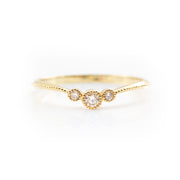Vintage V-Shaped Diamond Ring