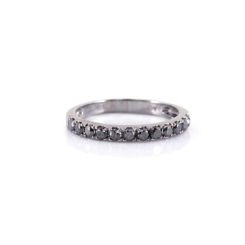 Half Eternity Black Diamond  Ring