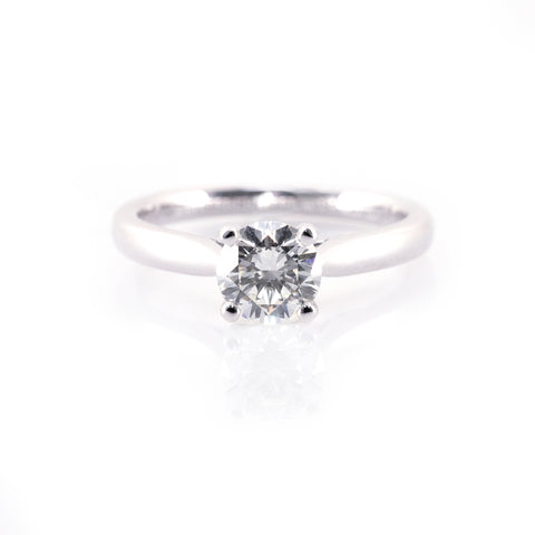 Classic Four-Prong Solitaire Engagement Ring (Mounting)