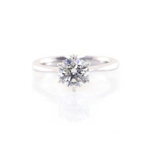 Classic Six-Prong Solitaire Engagement Ring (Mounting)