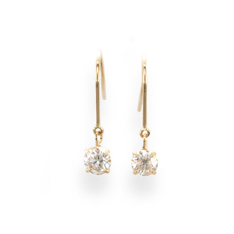Diamond Earrings with French Hook