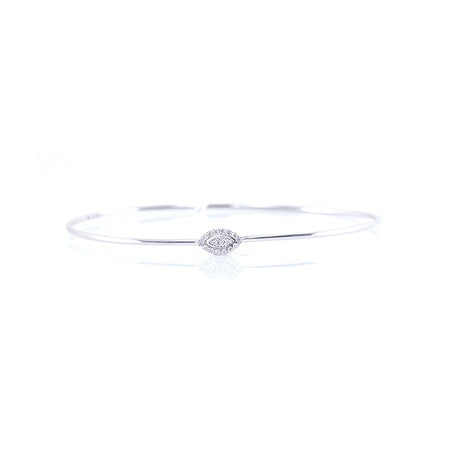 Marquise-Shaped Diamond Bangle
