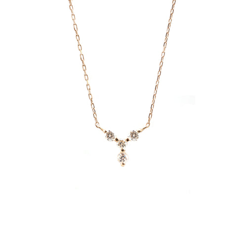 Mini Y-Shaped Diamond Necklace