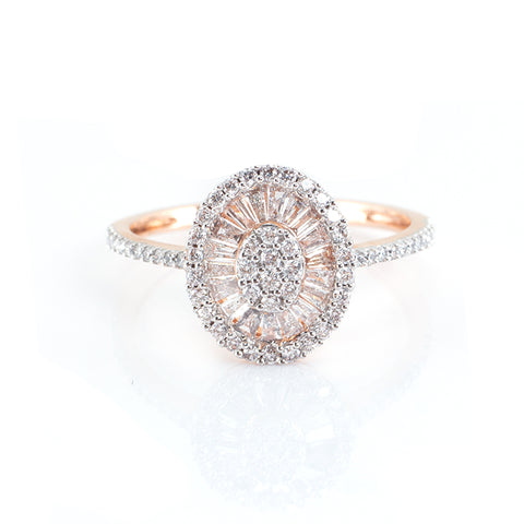 Oval-Shaped Diamond Ring