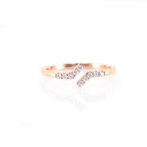 Parallel Diamond Ring