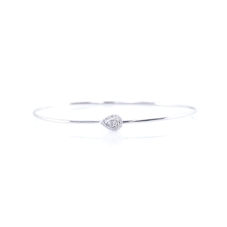 Pear-Shaped Diamond Bangle