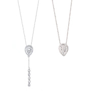 Pear-Shaped Diamond Necklace with Removable Pendant