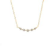 Round Graduated Diamond Necklace