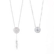 Round-Shaped Diamond Necklace with Removable Pendant