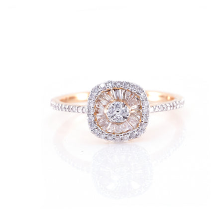Square-Shaped Diamond Ring