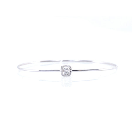 Square-Shaped Diamond Bangle